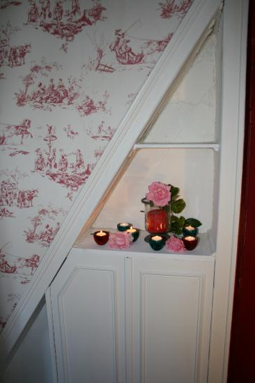 chambre rouge detail